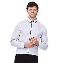 Red Herring - White small diamond print button down shirt