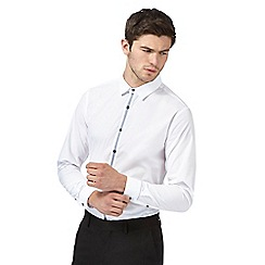 Red Herring - White placket trim slim fit shirt