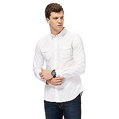 Red Herring - White military slim fit Oxford shirt