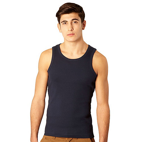 Red Herring - Navy blue ribbed vest
