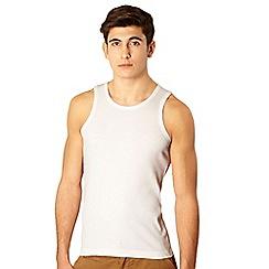 Red Herring - White ribbed vest