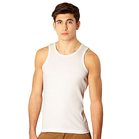 Red Herring - White ribbed vest