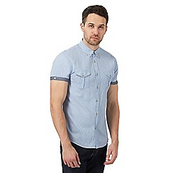 Red Herring - Light blue textured slim fit shirt