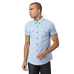 Red Herring - Blue slub semi plain shirt