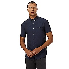 Red Herring - Navy dotted print button down shirt