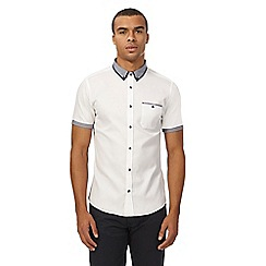 Red Herring - White textured tipped shirt