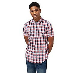 Red Herring - Red gingham checked short sleeved shirt