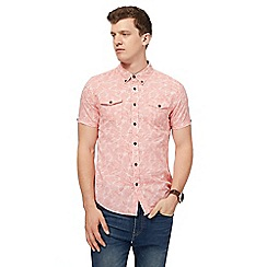 Red Herring - Pink pineapple print slim fit shirt