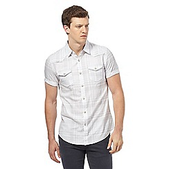 Red Herring - White checked slim fit shirt