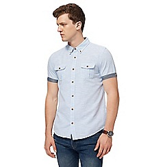 Red Herring - Light blue and white striped slim fit shirt