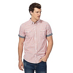 Red Herring - Pink gingham checked shirt
