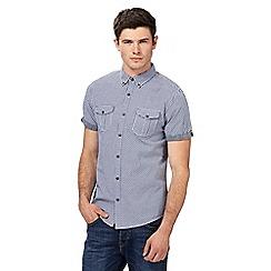 Red Herring - Navy gingham checked shirt