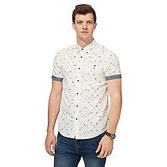 Red Herring - Cream beach print slim fit shirt