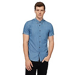 Red Herring - Light blue denim slim fit shirt