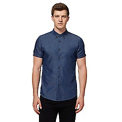 Red Herring - Blue denim slim fit shirt
