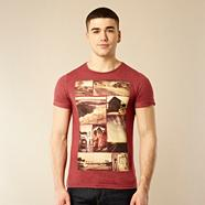 Red road trip photograph printed t-shirt
