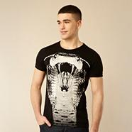 Black cobra print t-shirt