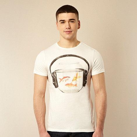 Red Herring - Off white fish bowl headphones t-shirt