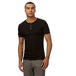 Red Herring - Big and tall black ribbed t-shirt