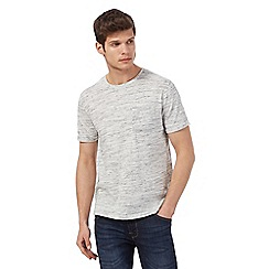 Red Herring - Big and tall grey space dye pocket t-shirt