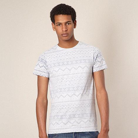 Red Herring - Pale grey reverse aztec printed t-shirt