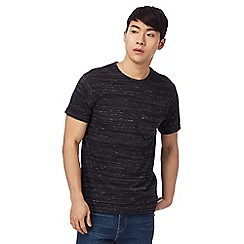 Red Herring - Big and tall black space dye crew neck t-shirt