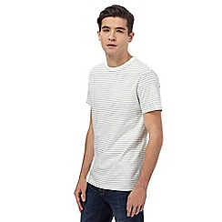 Red Herring - Big and tall white striped t-shirt