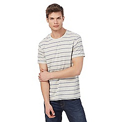 Red Herring - Grey textured striped t-shirt