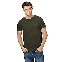 Red Herring - Khaki roll up sleeve t-shirt