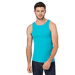 Red Herring - Turquoise ribbed vest