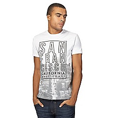 Red Herring - Big and tall white 'san francisco' print t-shirt