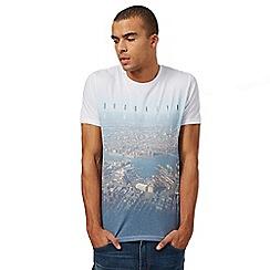 Red Herring - Big and tall white 'brooklyn new york' print t-shirt
