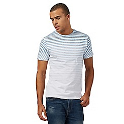 Red Herring - White and blue faded striped t-shirt