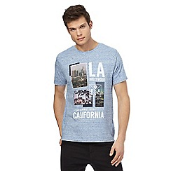 Red Herring - Big and tall blue 'hollywood' print t-shirt