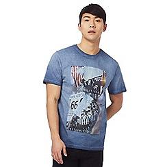 Red Herring - Blue 'Golden State' print t-shirt