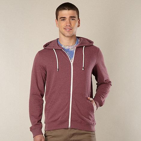 Red Herring - Dark red zip through sweat hoodie