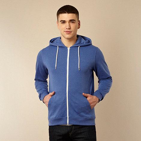 Red Herring - Blue zip through hoodie