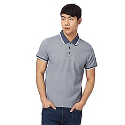 Red Herring - Big and tall navy jacquard polo shirt