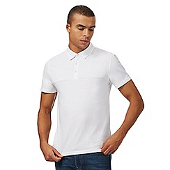 Red Herring - Big and tall white ribbed polo shirt