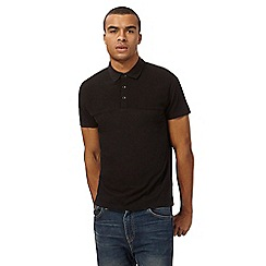 Red Herring - Black ribbed polo shirt