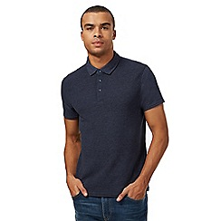 Red Herring - Big and tall navy ribbed polo shirt