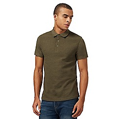 Red Herring - Big and tall khaki ribbed polo shirt