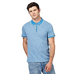 Red Herring - Big and tall blue tipped polo shirt