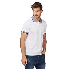 Red Herring - Big and tall white pocket polo shirt