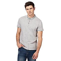 Red Herring - Grey feeder striped polo shirt