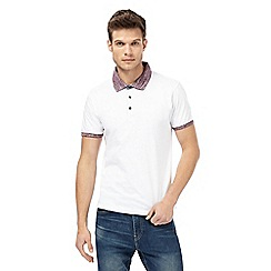 Red Herring - Big and tall white contrast collar polo shirt