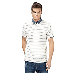 Red Herring - Big and tall white striped polo shirt