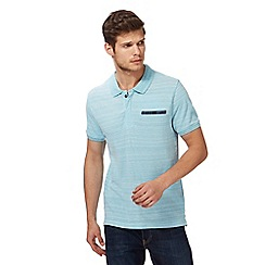Red Herring - Big and tall light blue textured pocket polo shirt