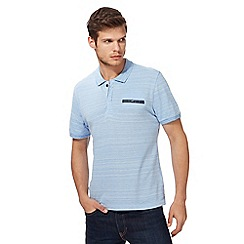 Red Herring - Big and tall blue textured pocket polo shirt