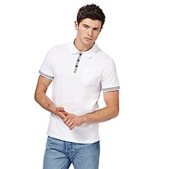 Red Herring - White striped placket polo shirt